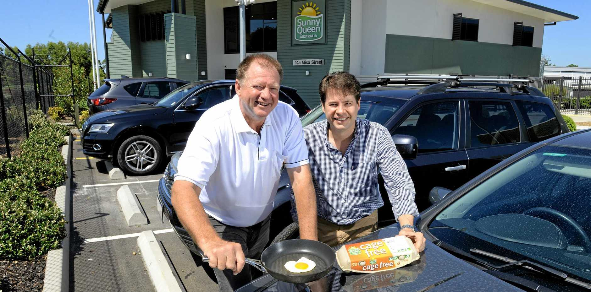 HOT PLATE: Sunny Queen Farms CFO Glenn Trimble and RPS Planning Principal Simon Pollock are using the sun as power.