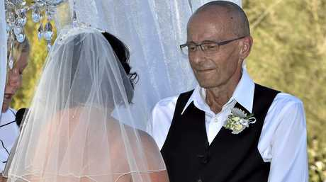 EXCHANGING VOWS: Toowoomba couple Meagan Horne and Rene Derksen were gifted a perfect wedding at Reflections - Lake Cooby . My Wedding Wish gift weddings to couples affected by terminal illness. January 13, 2017