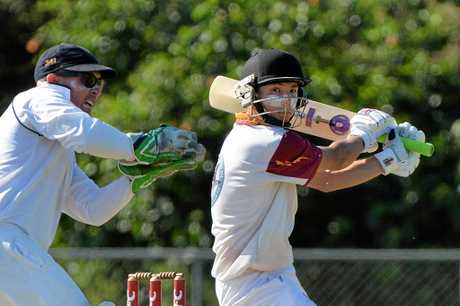 LOCAL CRICKET: Maroochydore v Tewantin-Noosa at Syd Lingard Drive ovals, Buderim. Tewantin-Noosa batsman, Chris Whitworth is declared out.