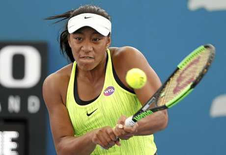 Destanee Aiava in action at the Brisbane International.