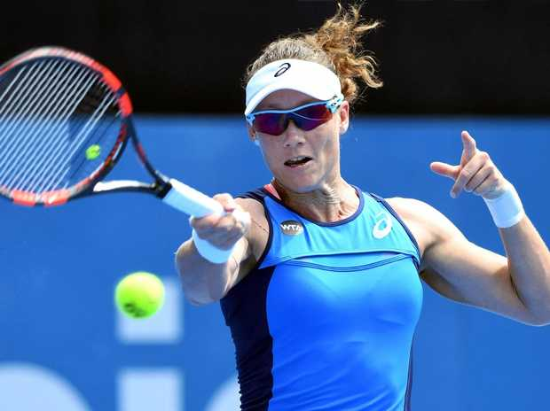 Samantha Stosur in action during the first round at the Sydney International.