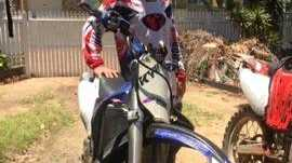 Beachmere boy Jayke Dick died after crashing a motorbike into a tree beside a dirt track near his home.