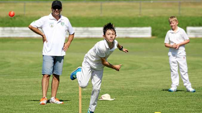 Noah MacKenzie practices his bowling at Sheahan Oval on Saturday, January 14.