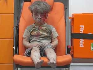 Safety fears after Aleppo boy's family heads back home