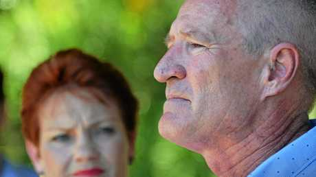 Pauline Hanson with One Nation's Queensland leader Steve Dickson