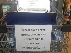 Supermarket's good deed makes a splash on a hot day