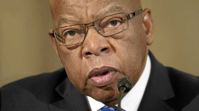 TARGET: Civil rights activist John Lewis says the Trump presidency is not legitimate. In reply Mr Trump has attacked Mr Lewis on Twitter.