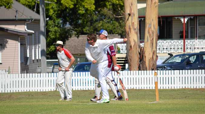Alistair Costello bowls for Colts.