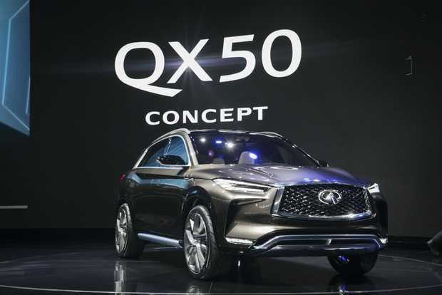 Infiniti QX50 Concept at the 2017 International Auto Show, Detroit