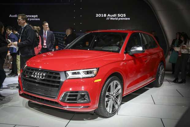 New Audi SQ5 at the 2017 International Auto Show, Detroit