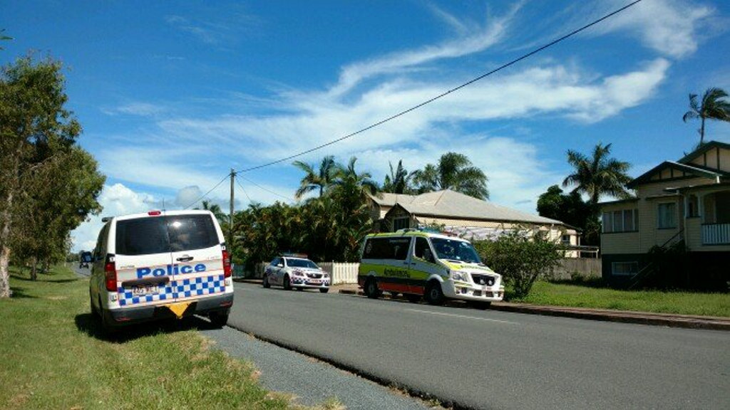 Paramedics respond to a report of a stabbing in South Mackay