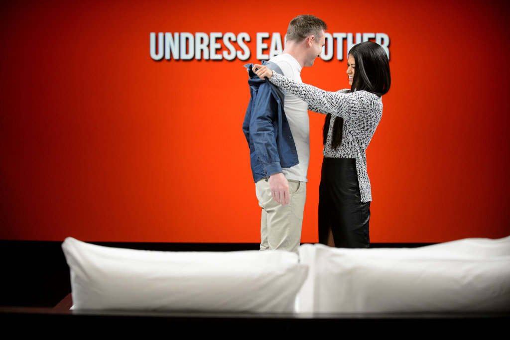 Nathan and Tahlia meet for the first time on the TV series Undressed.