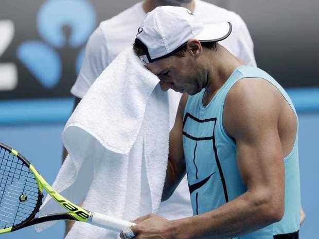 Rafael Nadal of Spain during a practice session at Melbourne park ahead of Australian Open Tennis tournament in Melbourne, Australia, 15 January 2017.