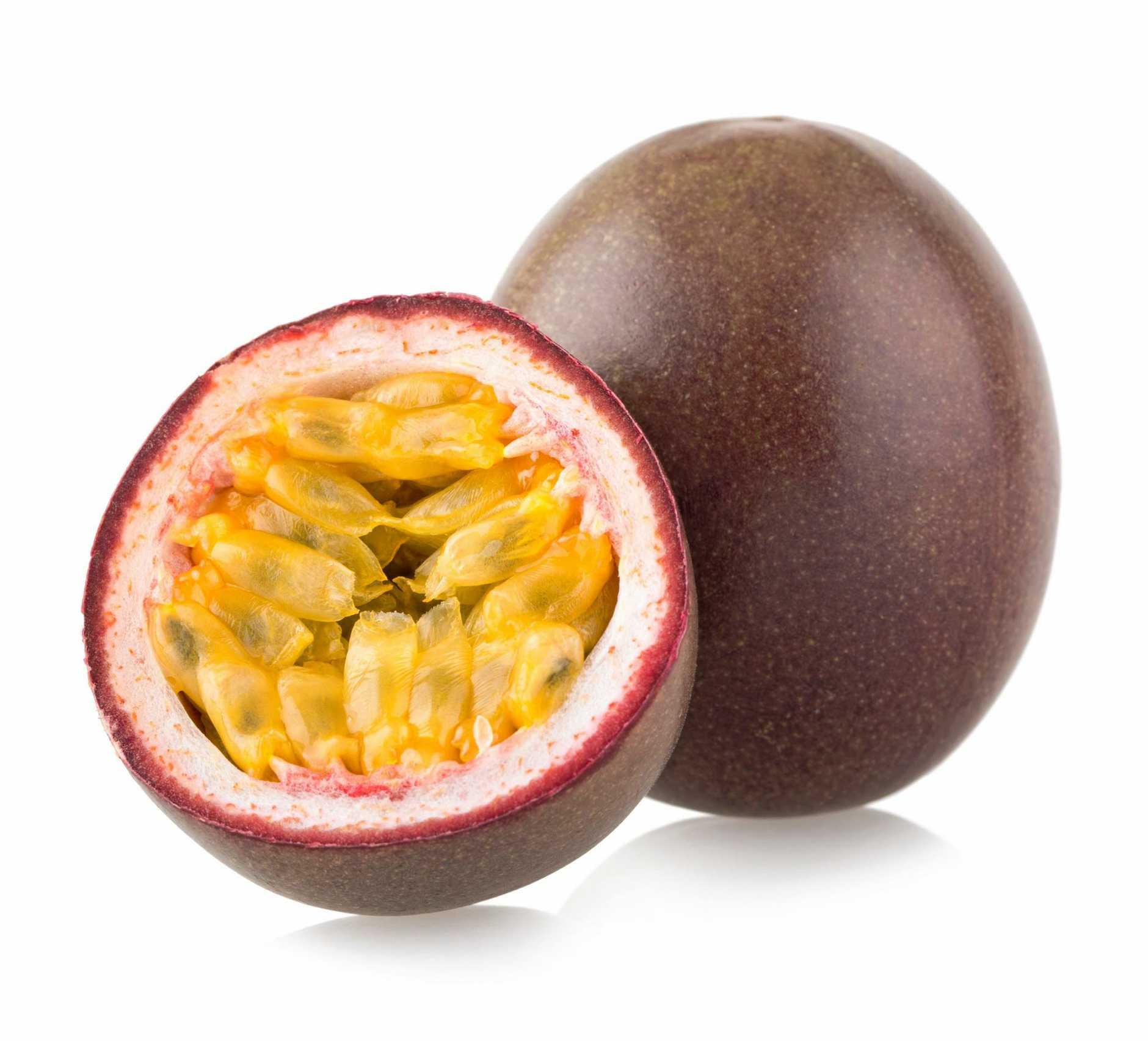 Ripe passionfruit.
