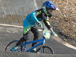 Rider suffers leg, eye injury after fall from BMX bike