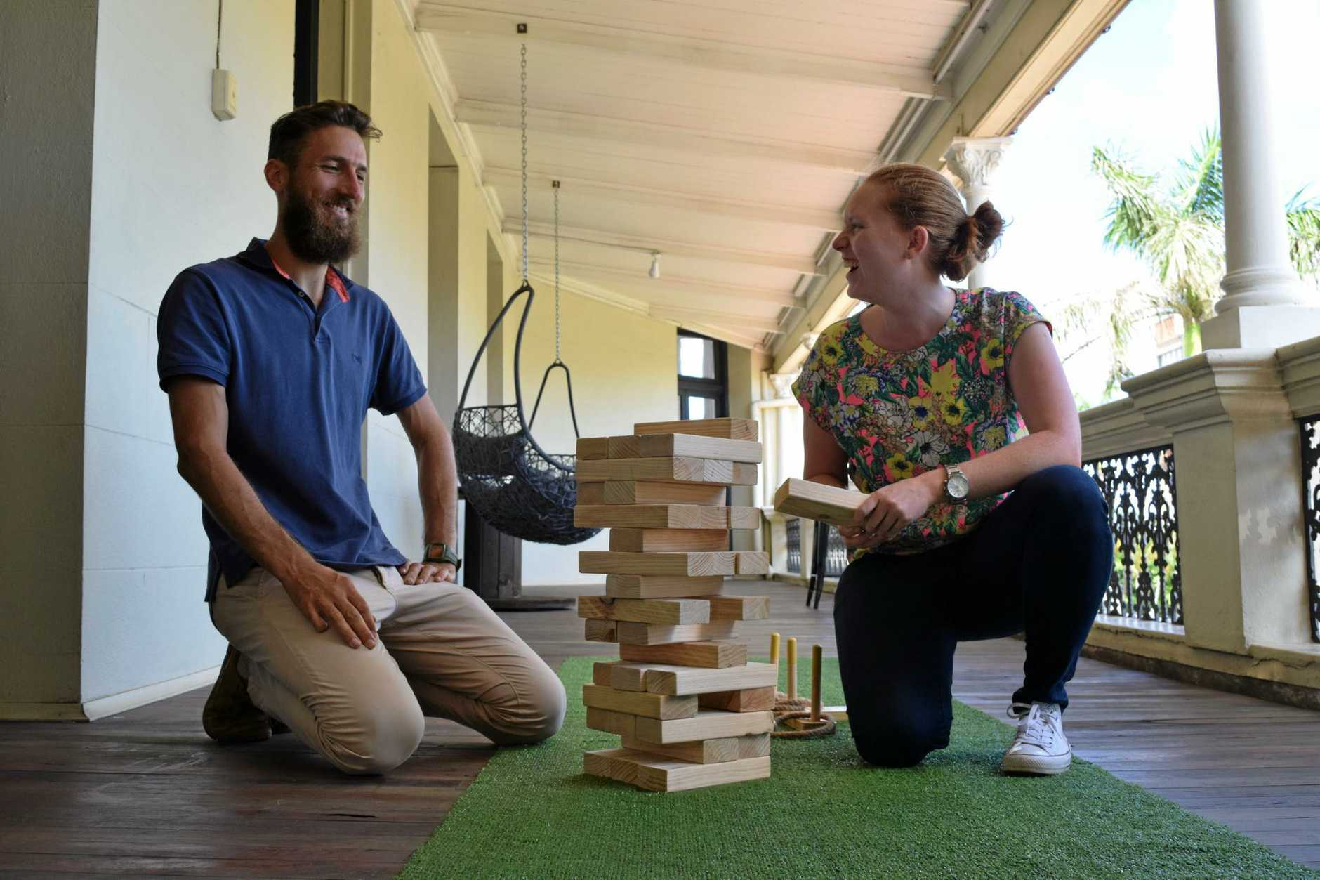 OPEN FOR BUSINESS: Dan Willersdorf and Eleanor Carey are two of the three co-founders of The Generator in Bundaberg's CBD.