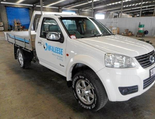 McAleese vehicles have been put up for auction at Paget.