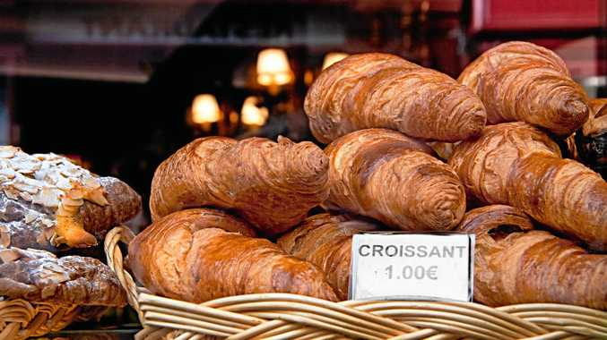 Croissant  - This is the daily breakfast in Paris. Latin Quarter, France.; Shutterstock ID 81631396; PO: EGC Test images; Client: Hotels.com
