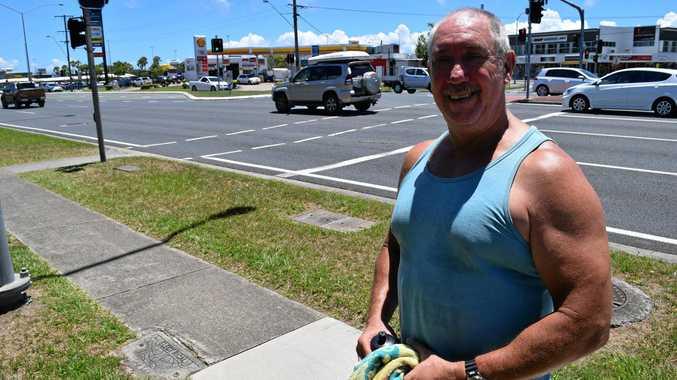 Parrearra resident Steve Wilson doesn't believe a pedestrian crossing over Nicklin Way at Lutana St needs to be changed.