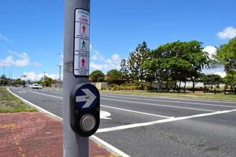 A pedestrian crossing over the northbound lanes of Nicklin Way at the intersection of Lutana St will be moved a short distance south.