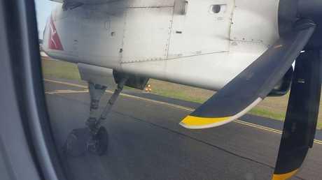 Tyre blown on Qantas plane flown from Toowoomba.
