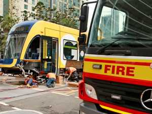 Tram smashes into fire truck at Surfers Paradise