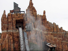 Movie World's Wild West Flume Ride