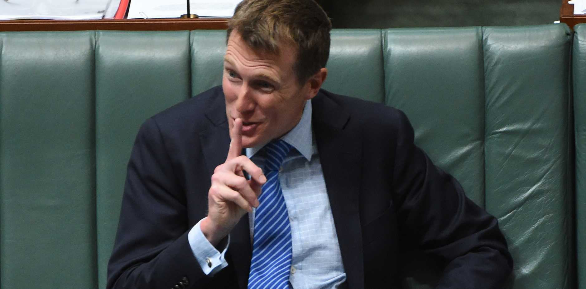Minister for Social Services Christian Porter during Question Time in the House of Representatives at Parliament House in Canberra, Tuesday, Nov. 29, 2016.
