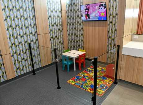 THE WAVES: Babies changing room is clean and spacious with the inclusion of a play area.