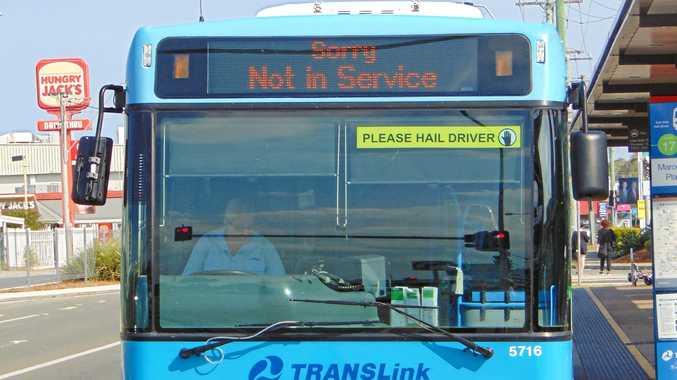 Sunbus bus stops at Maroochydore bus station.
