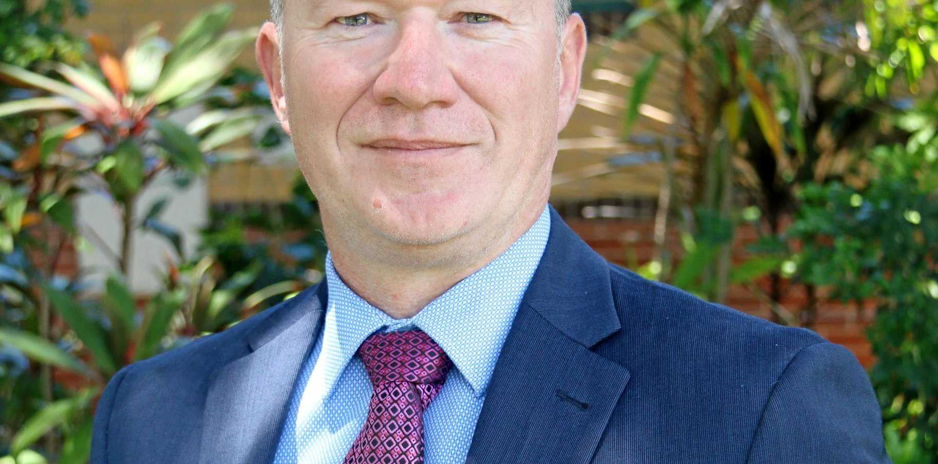 SCHOOL'S IN: St Luke's Anglican School's new principal Craig Merritt is looking forward to making connections in the community.