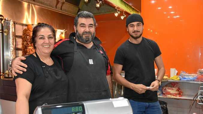 TOOLS DOWN: Jasmin, Jim and Koray Kebir, of Express Kebabs, will be closed during Rose City Shoppingworld renovations.