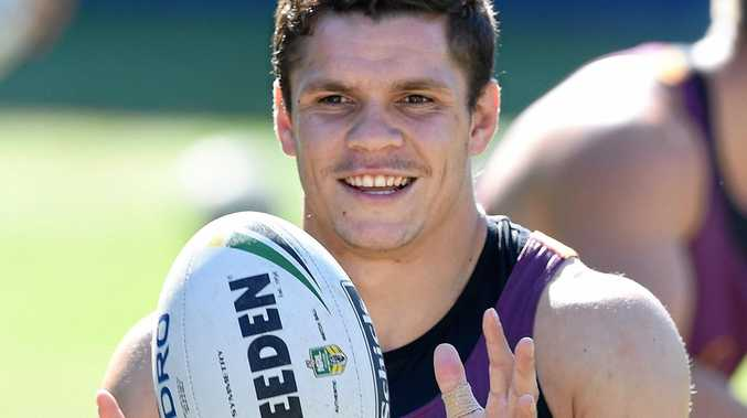 James Roberts during a Brisbane Broncos training session.