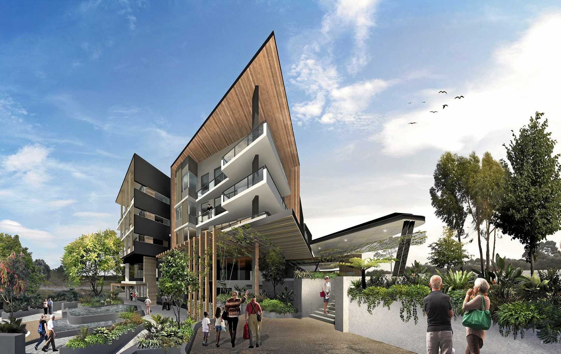 THIS YEAR: An artist impression of the new Aveo retirement village in Springfield.