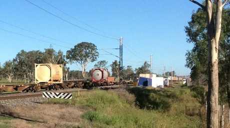 A freight train has derailed at Raglan.