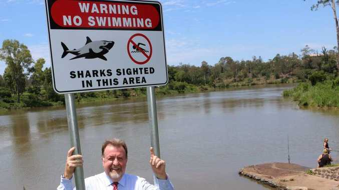 Deputy Mayor and Division 2 Councillor Paul Tully said the sign reminded river users of the presence of sharks in the river.