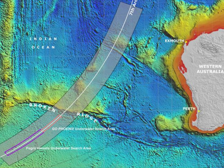 The MH370 search zone has been controversial, as many claimed they were looking in the wrong place.Source:Supplied