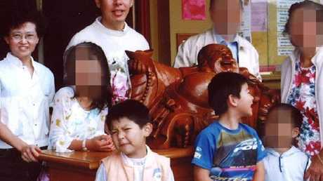 Lili (left) and Norman 'Min' Lin and their sons Terry, 9, and Henry, 12, were bludgeoned to death in their family home along with Lily's sister Irene.