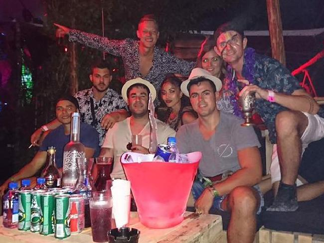 Perth man Trent Cray was partying with friends in Mexico when gunfire erupted. Picture: Facebook/Trent Cray