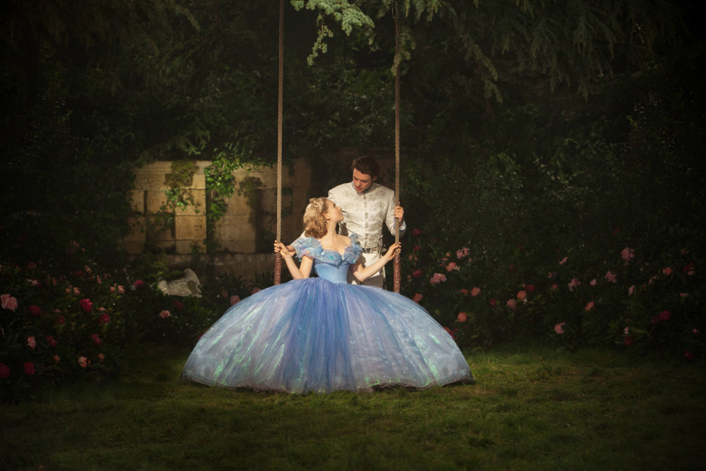 Lily James and Richard Madden in a scene from the movie Cinderella.