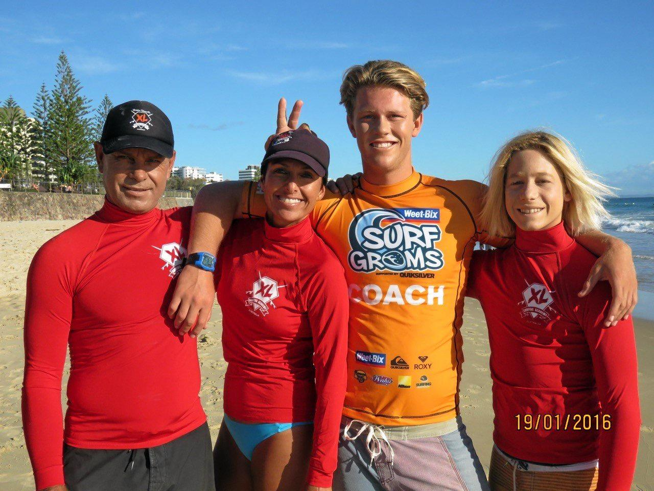 The XL Surfing Academy team.
