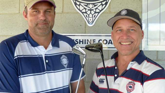 Brothers Rugby Sunshine Coast committee member Brendan Wright (left) and president John Craven.