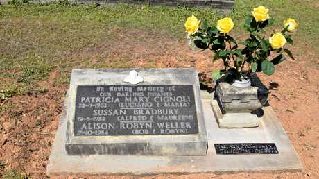 Maryann McSweeney's grave at the Gympie Cemetery, where she was buried with more than seven other children in 1887.