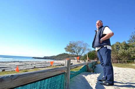 REG REMEMBERS: Evans Head resident Reg Hulbert was one of the four men who helped Craig Ison straight after he was attacked by a shark on Main Beach Friday week ago.  Photo Samantha Elley / Express Examiner