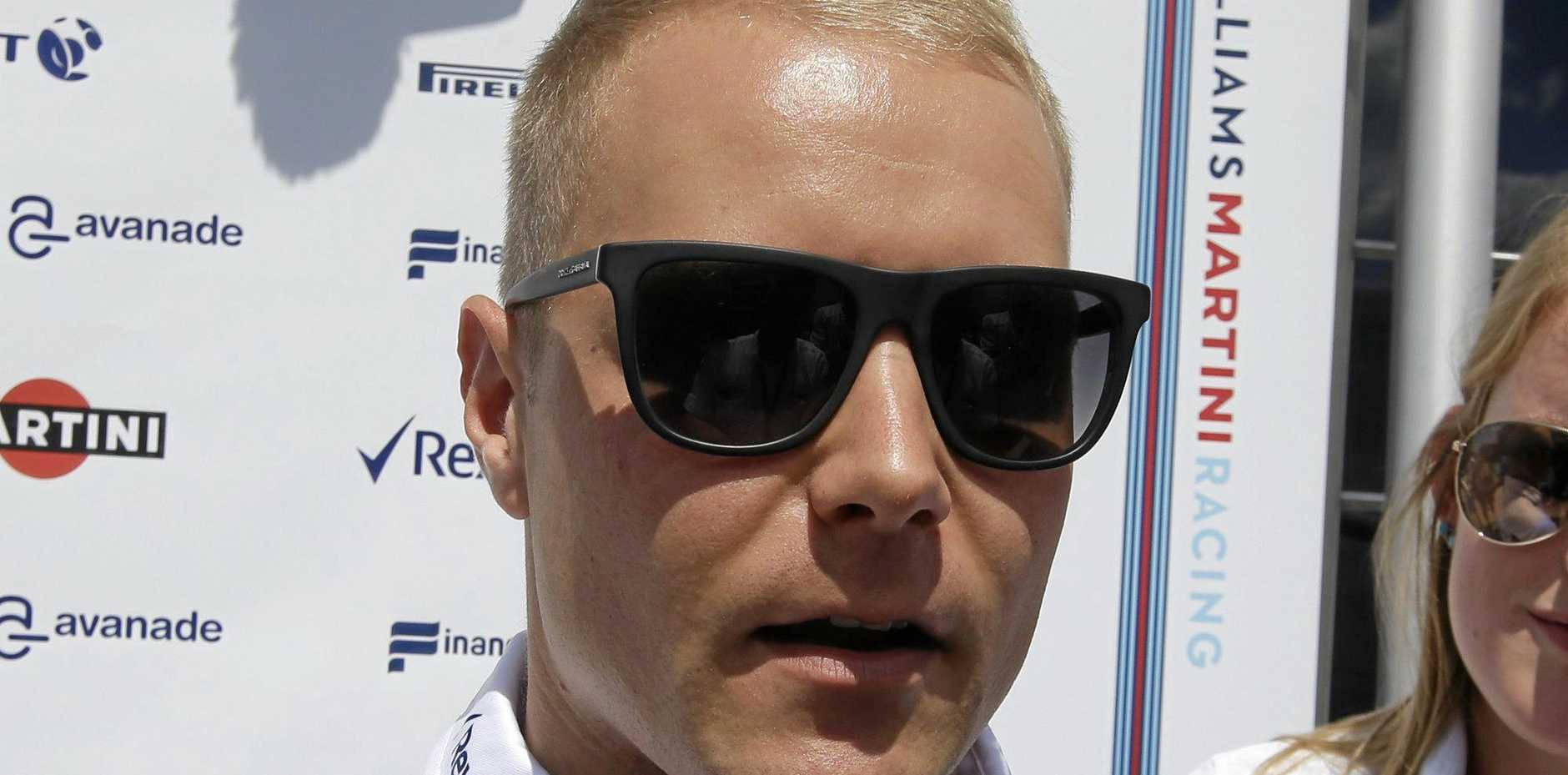 Valtteri Bottas of Finland will race alongside three-time champion Lewis Hamilton at Formula One team Mercedes in 2017.