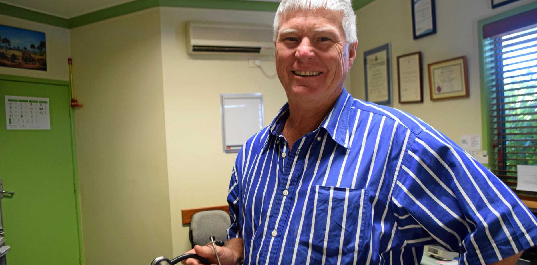 COUNTRY PRACTICE: Dr Ross Hetherington has been one of Warwick's favourite doctors for over 20 years.