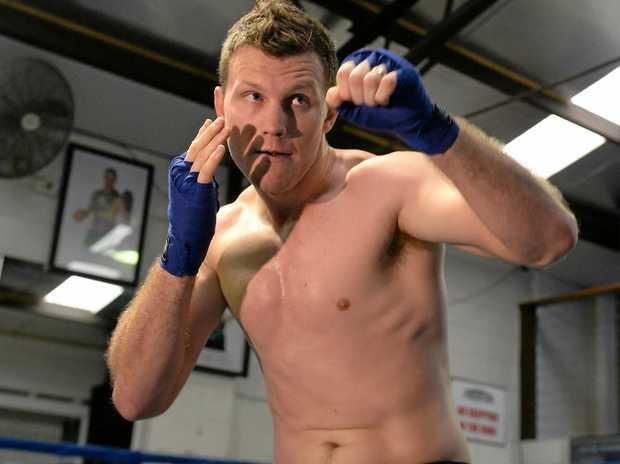 Australian boxer Jeff Horn in the gym.