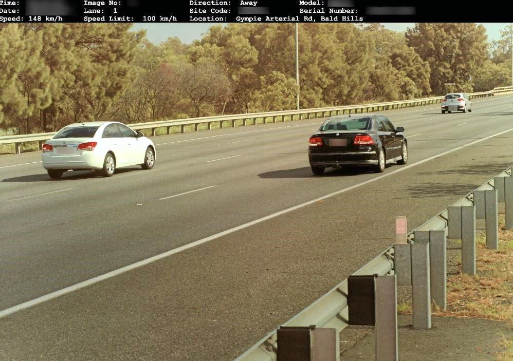 An allegedly speeding motorist is captured on the new trailer-mounted cameras.