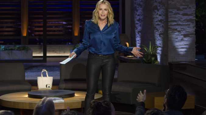 Chelsea Handler pictured in a scene from her talk show in Los Angeles.