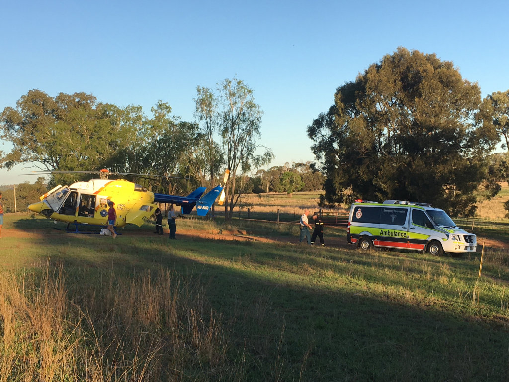 RESCUE: RACQ Lifeflight flew to Monto after a boy was kicked in the head by a horse